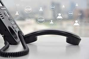 Desk phone operated through VOIP
