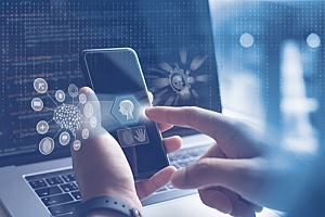artificial intelligence powered by a smart phone to simplify business communications