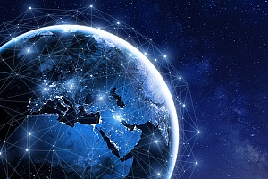 business communications being conducted across the globe