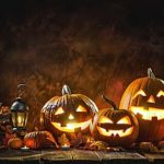 jack o lanterns representing Halloween