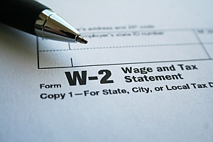 w-2 form information that is being collected by a fake boss
