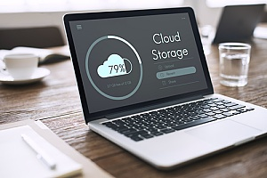 a small business performing a cloud backup