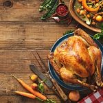 a Thanksgiving luncheon at a cybersecurity firm