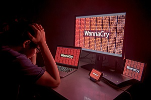 a WannaCry ransomware attack on an individual running Windows 7