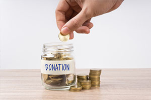 Donation piggy bank