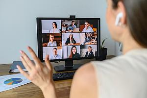 Company on video conference call