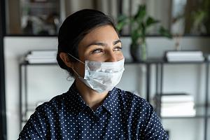 Woman in mask during pandemic