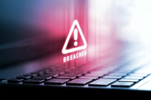 Cybersecurity Threats getting through computer and taking data