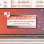 Ransomware attack on a lap top